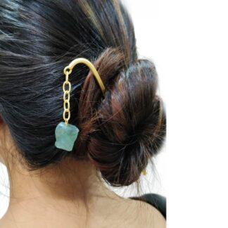 Greenish Dangling Hair Pin