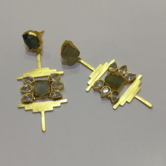 Fluorite Abstract Horizon Earrings