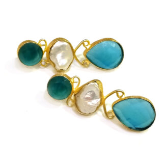 Ocean Pearl Stud Earrings