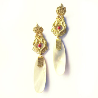Harappan Long Dangling Earrings