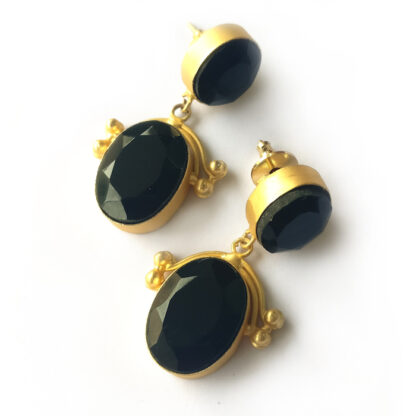 Boho Chic Onyx Earrings