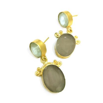Boho Chic Quartz Earrings