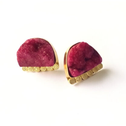 Sugar Kissed Crimson Studs