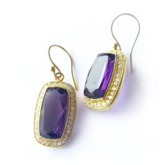 Purple Envy Hook Earrings