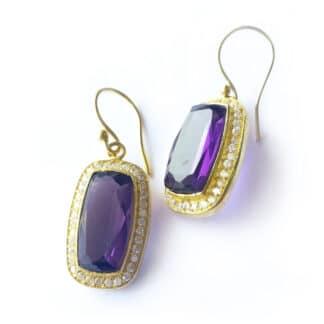 Purple Envy Hook Earrings