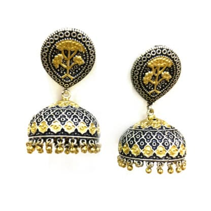 Mughal Architecture Jhumki Earrings