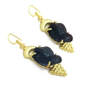 Black Onyx Egyptian Earrings