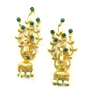 Golden Dancing Peacock Earcuff