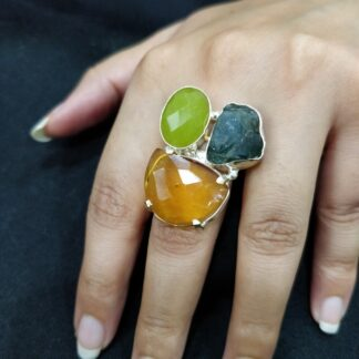 Triple Stone Candy Ring