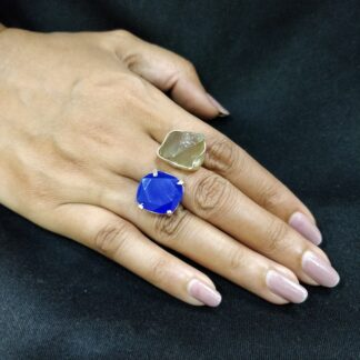 Two Stone Chic Ring