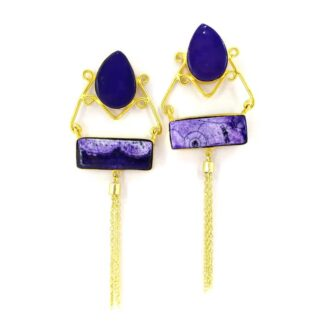 Purple Victorian Swing Earrings