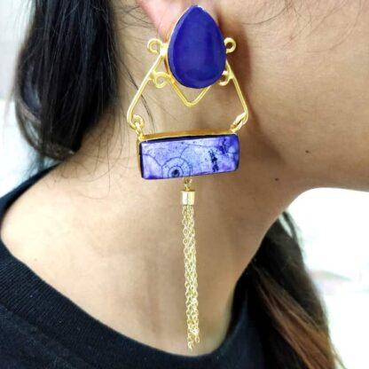 Purple Victorian Swing Earrings
