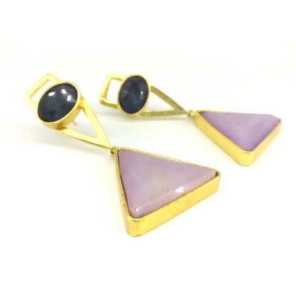 Lavender Agate Fashion Earrings