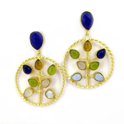 Tree of Life Multi-stone Earrings