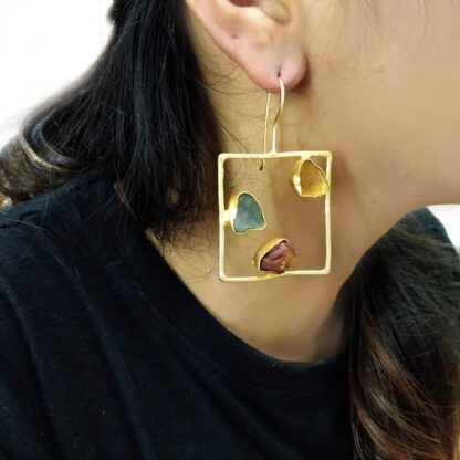 Trinity MultiColor Hook Earrings Body Image