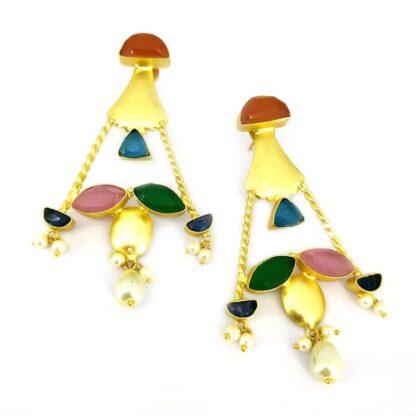 Multicolor Twisted Rope Earrings