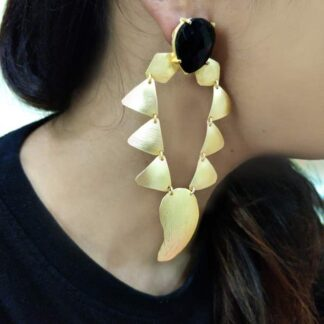 Golden Toran Dangler Earrings