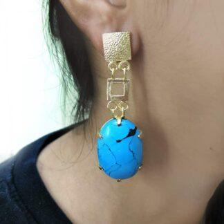 Art Deco Turquoise Earrings