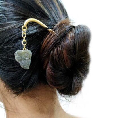 Grey Dangling Hair Pin