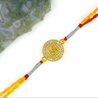 Gold Plated sterling silver rakhi