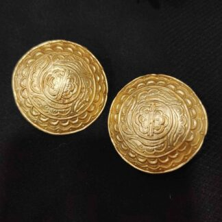 Dhokra inspired Gold Plated Large Studs