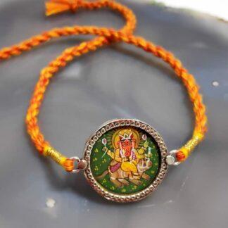 925 Sterling Miniature Hand Painted Ganesha Rakhi Main